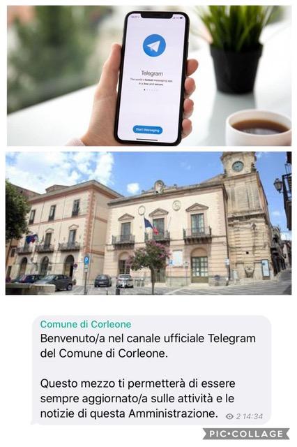 Aperto il canale Telegram del Comune
