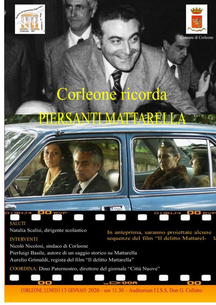 Domani si ricorda Piersanti Mattarella con il regista Aurelio Grimaldi