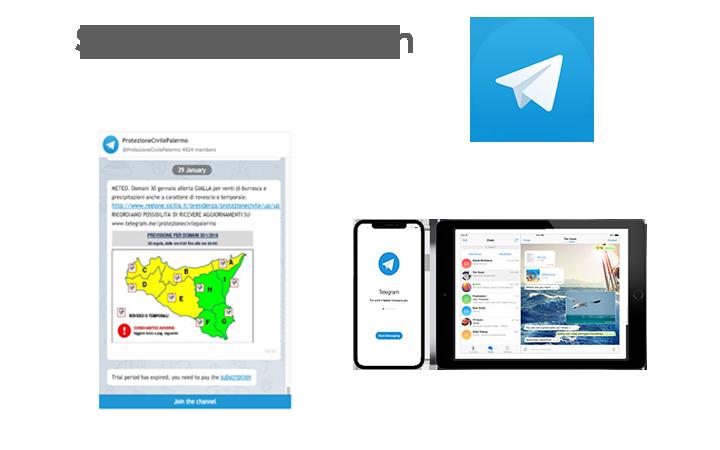 Telegram Protezione Civile
