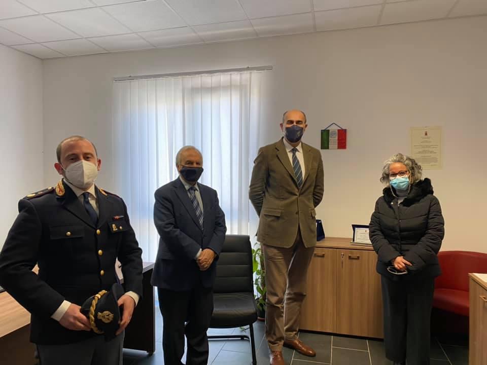 Il questore di Palermo in visita al commissariato